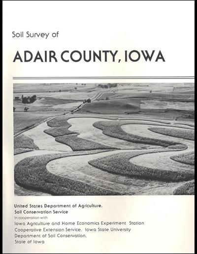 Adair County, Iowa -- Soil Survey Digital Version