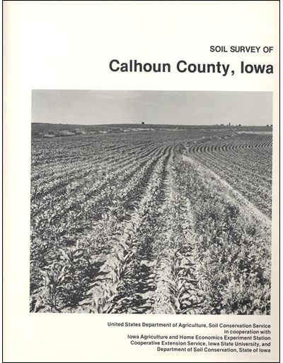 Calhoun County, Iowa -- Soil Survey Digital Version
