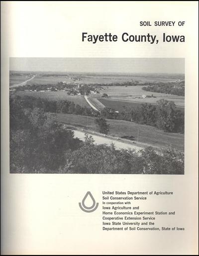 Fayette County, Iowa -- Soil Survey Digital Version
