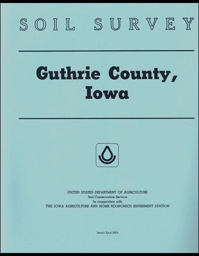 Guthrie County, Iowa -- Soil Survey Digital Version