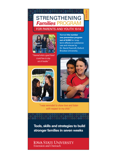 Strengthening Families Program: For Parents and Youth 10-14 - Brochure (Unit=50)