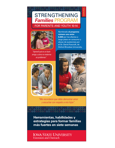 Strengthening Families Program: For Parents and Youth Brochure - Spanish (Unit=50)