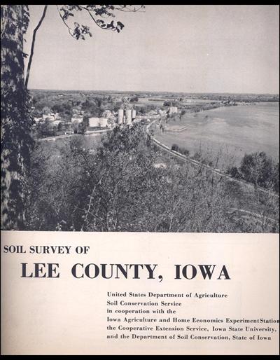 Lee County, Iowa -- Soil Survey Digital Version