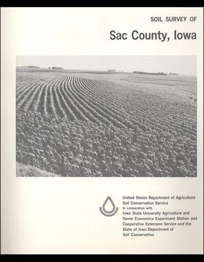 Sac County, Iowa -- Soil Survey Digital Version