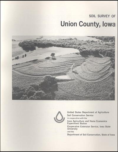 Union County, Iowa -- Soil Survey Digital Version