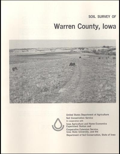 Warren County, Iowa -- Soil Survey Digital Version