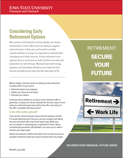 Considering Early Retirement Options -- Retirement: Secure Your Future