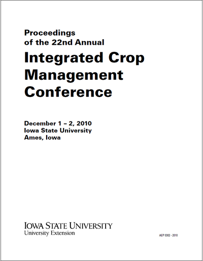 Proceedings of the 22nd Annual Integrated Crop Management Conference