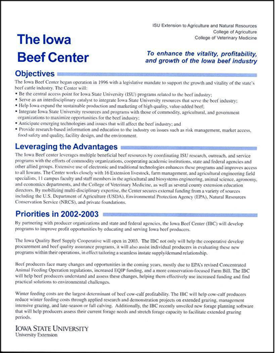 The Iowa Beef Center
