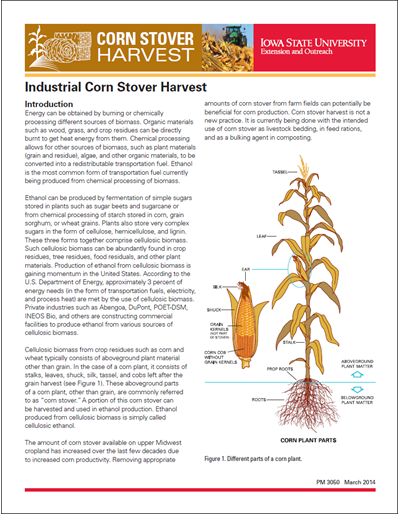 Industrial Corn Stover Harvest