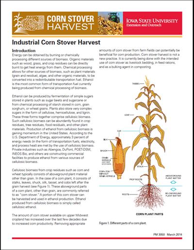 Industrial Corn Stover Harvest