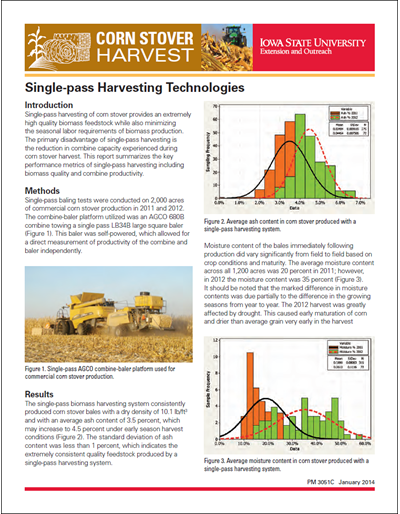 Single-pass Harvesting Technologies