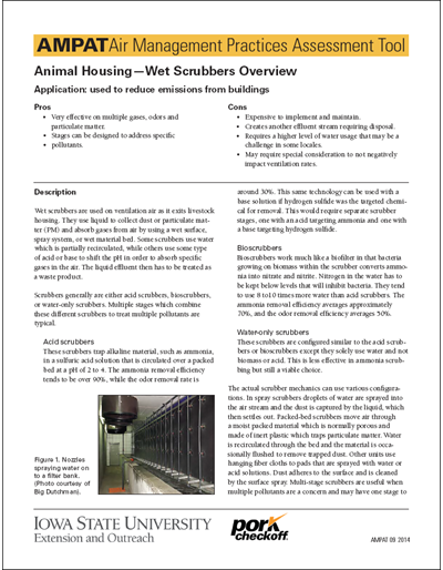 Animal Housing - Wet Scrubbers Overview