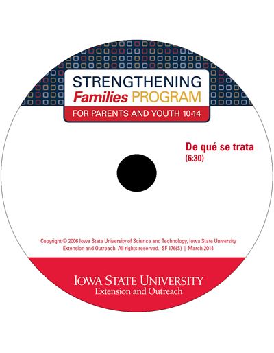Strengthening Families Program: For Parents and Youth 10-14 - De que se trata Promo DVD