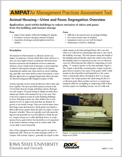 Animal Housing - Urine and Feces Segregation Overview