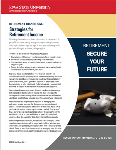 Retirement Transitions: Strategies for Retirement Income -- Retirement: Secure Your Future