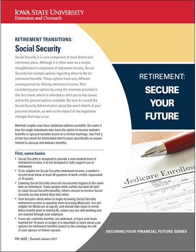 Retirement Transitions: Social Security -- Retirement: Secure Your Future