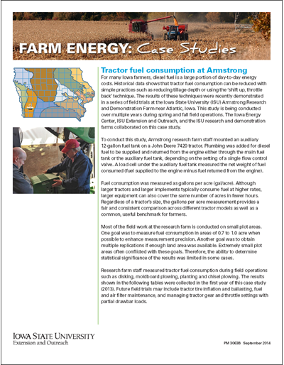 Farm Energy: Case Studies - Tractor fuel consumption at Armstrong