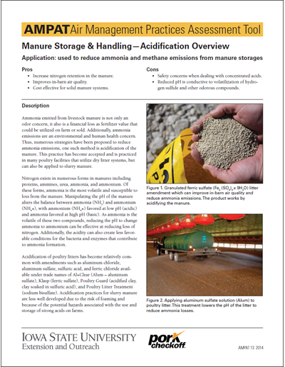 Manure Storage & Handling - Acidification Overview