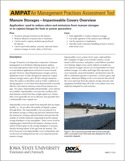 Manure Storage & Handling - Impermeable Covers