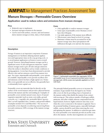 Manure Storage & Handling - Permeable Covers
