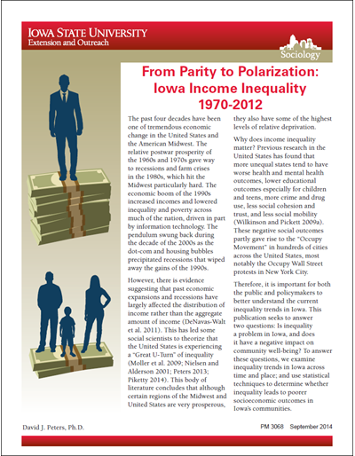 From Parity to Polarization: Iowa Income Inequality 1970-2012