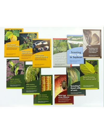 Scouting Card SET: Early, Mid, and Late Season Scouting (Soybean & Corn), White Mold, Goss's Wilt, Stink Bug, Moth ID, Two Spotted Spider Mites, and Speed Scouting cards