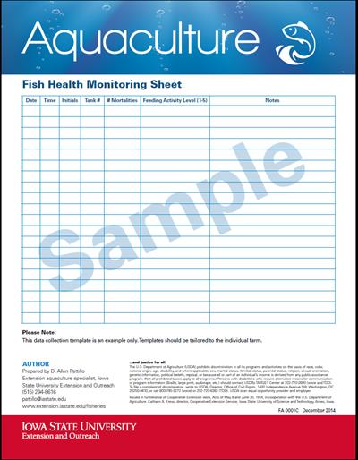 Fish Monitoring Sheet (Sample)