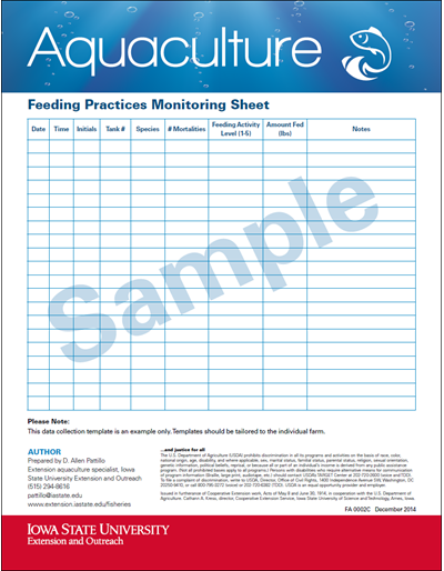 Feeding Practices Monitoring Sheet (Sample)