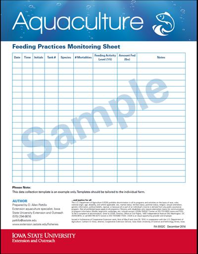 Feeding Practices Monitoring Sheet (Sample)