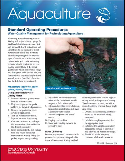 Standard Operating Procedures - Water Quality Management for Recirculating Aquaculture