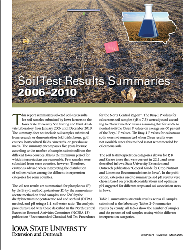 Soil-Test Results Summaries 2006-2010