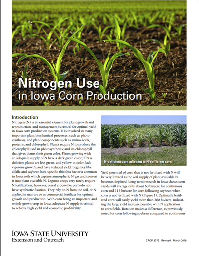 Nitrogen Use in Iowa Corn Production