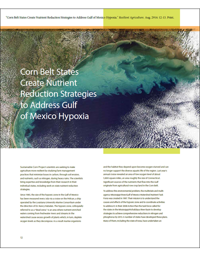 Corn Belt States Create Nutrient Reduction Strategies to Address Gulf of Mexico Hypoxia