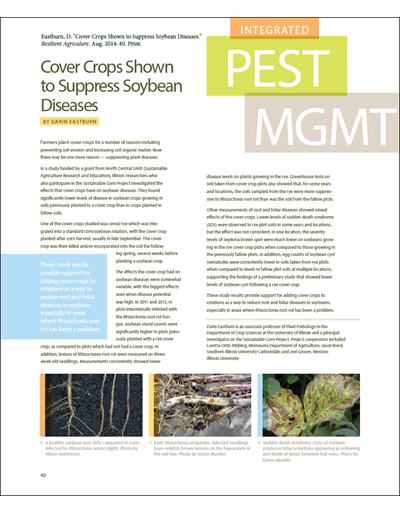 Cover Crops Shown to Suppress Soybean Diseases