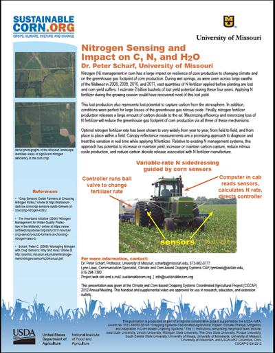 Nitrogen Sensing and Impact on C, N, H2O