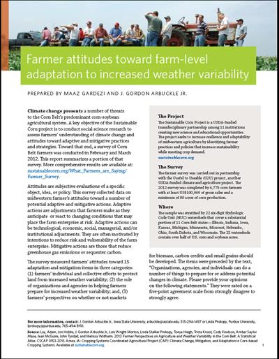 Farmer attitudes toward farm-level adaptation to increased weather variability