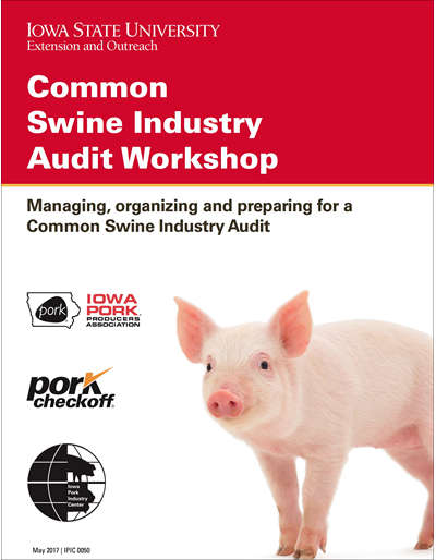 Common Swine Industry Audit Workshop notebook