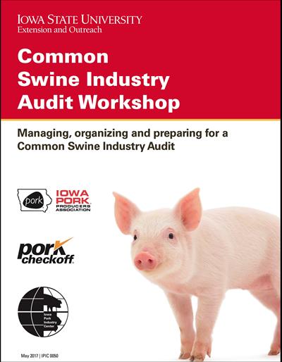 Common Swine Industry Audit Workshop notebook
