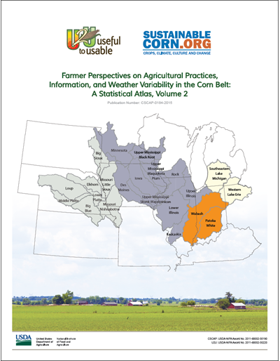 Farmer Perspectives on Agricultural Practices, Information, and Weather Variability in the Corn Belt: A Statistical Atlas, Volume 2