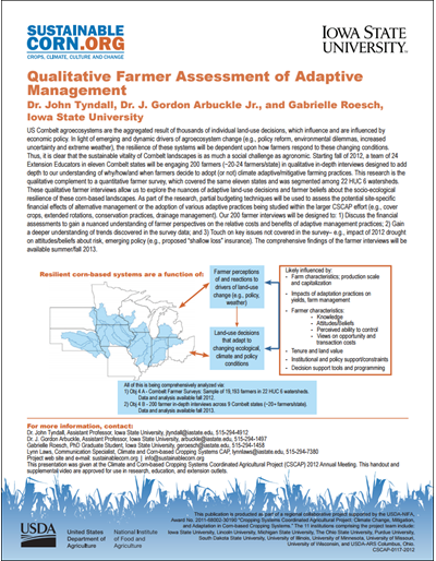 Qualitative Farmer Assessment of Adaptive Management
