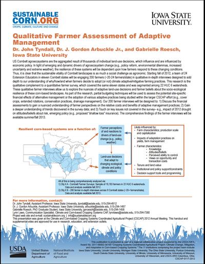 Qualitative Farmer Assessment of Adaptive Management