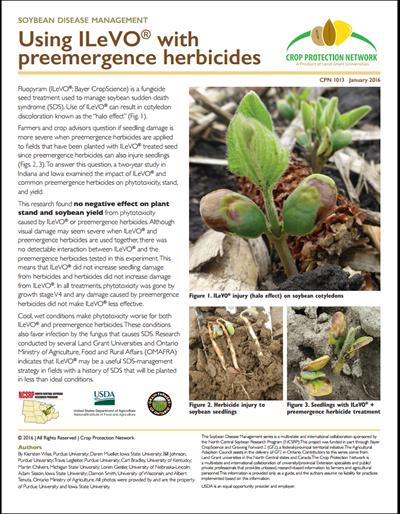 Using ILeVO® with preemergence herbicides