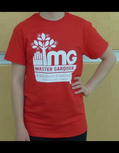 Master Gardener T-Shirt - Red Medium