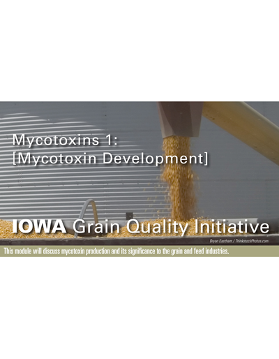 Mycotoxins 1: Mycotoxin Development Module