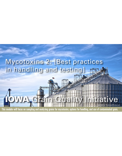 Mycotoxins 2: Best Practices in Handling and Testing Module