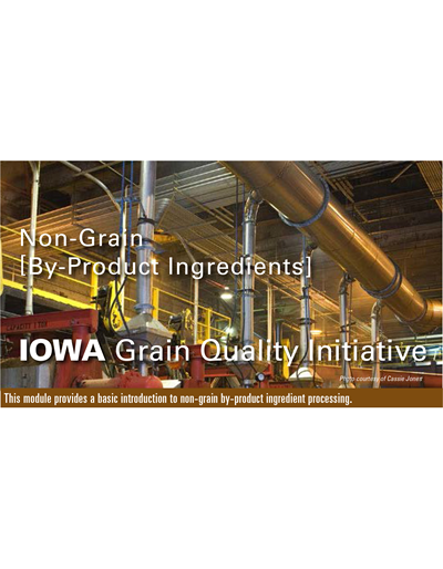 Non-Grain By-Product Ingredients Module