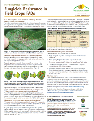 Fungicide Resistance in Field Crops FAQ