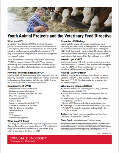 Youth Animal Projects and the Veterinary Feed Directive