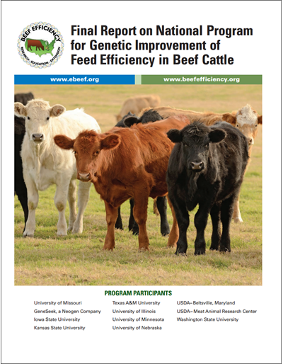 Final Report on National Program for Genetic Improvement of Feed Efficiency in Beef Cattle